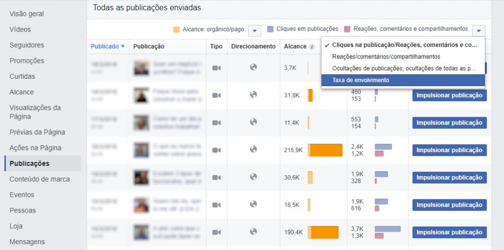 facebook insights pagina metrica 10