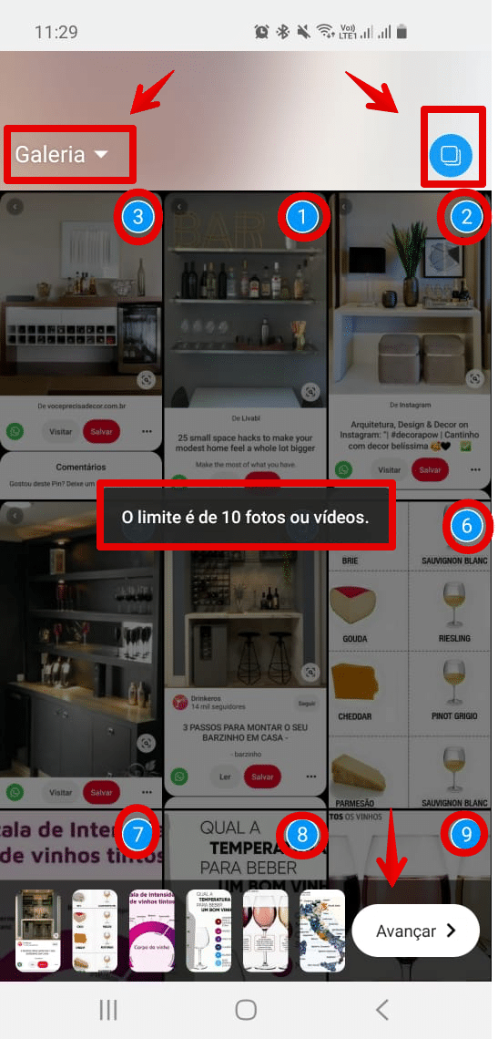 como colocar várias fotos no stories do instagram